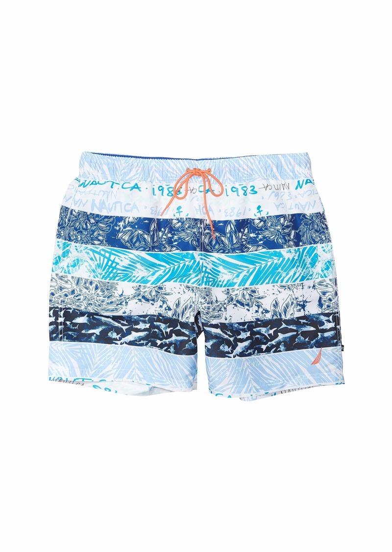 Nautica Stripe Block Swim Trunk