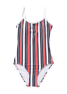 Nautica Striped One-Piece Swimsuit