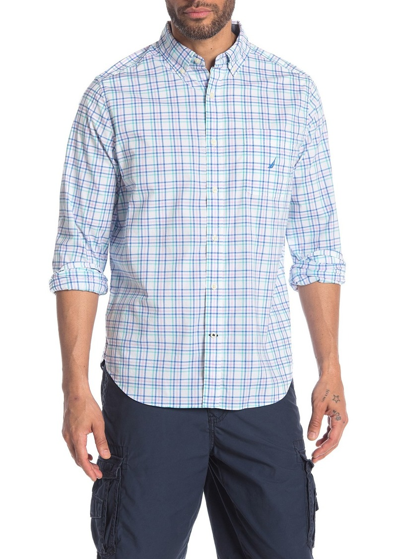 Nautica Tattersol Stretch Poplin Shirt