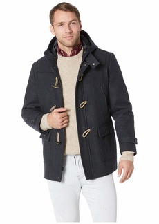 Nautica Wool Hooded Toggle and Zip Coat