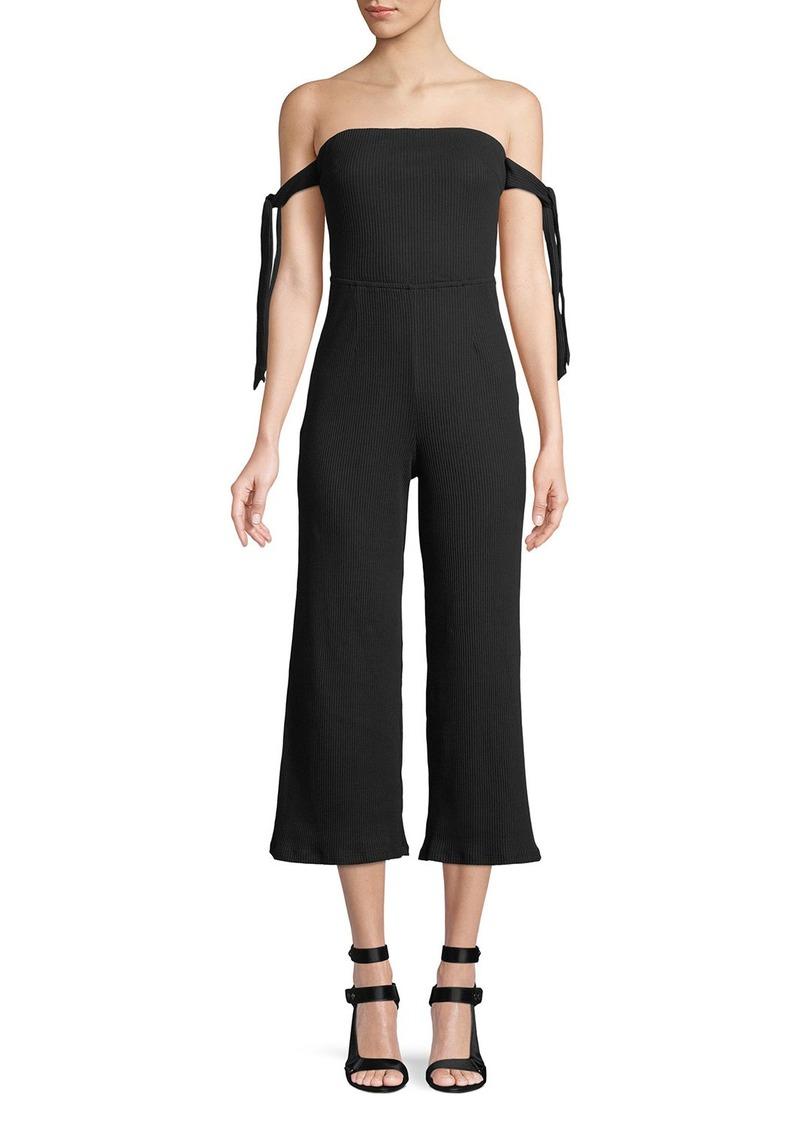 NBD Eden Wide-Leg Cold Shoulder Jumpsuit