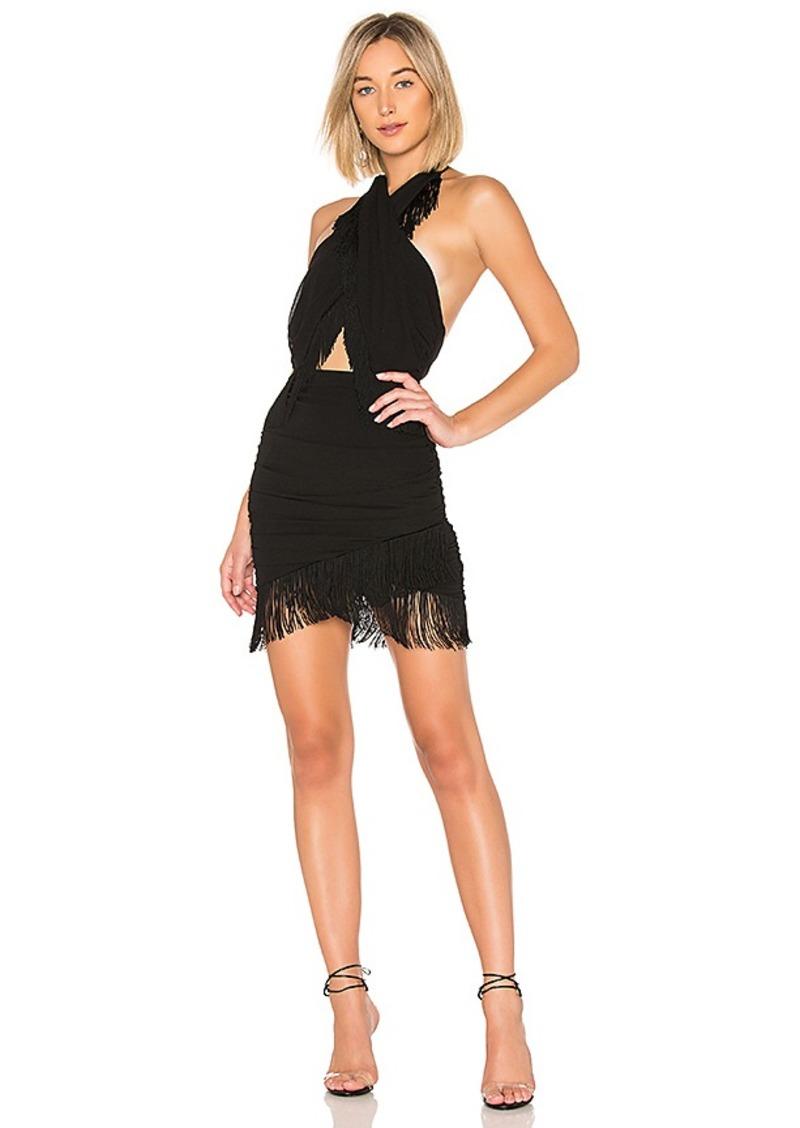 NBD Violet Fringe Mini Dress