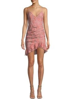 NBD Plumeria Floral Lace Dress w/ Shirring