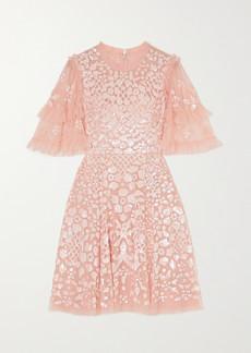 Needle & Thread Aurelia Sequin-embellished Ruffled Tulle Mini Dress