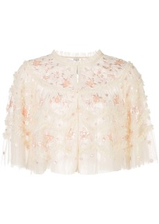 Needle & Thread cropped embroidered jacket
