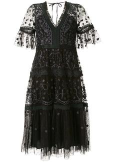 Needle & Thread embellished short sleeve dress