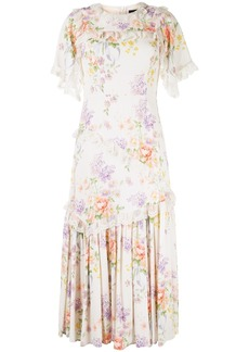Needle & Thread floral-print midi dress