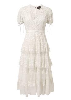 Needle & Thread Layered Lace Midi Dress