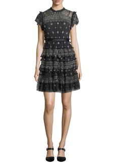 Needle & Thread Andromeda High-Neck Cocktail Dress