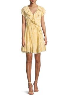 Needle & Thread Anglaise Georgette Sleeveless Mini Wrap Dress