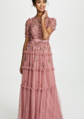 Needle & Thread Carnation Sequin Gown