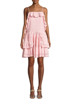 Needle & Thread Deconstructed Sleeveless Broderie Mini Dress
