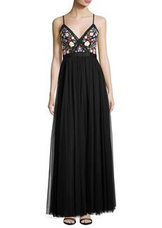 Needle & Thread Flower Foliage Maxi Dress