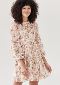 Needle & Thread Garland Flora Ruffle Mini Dress