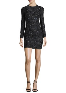 Needle & Thread Midnight Lace Cocktail Dress W/ Embellishments