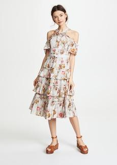Needle & Thread Rainbow Rose Ruffle Dress