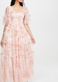 Needle & Thread Ruby Bloom Smocked Gown