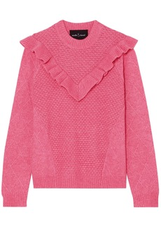 Needle & Thread Woman Ruffled Knitted Sweater Pink