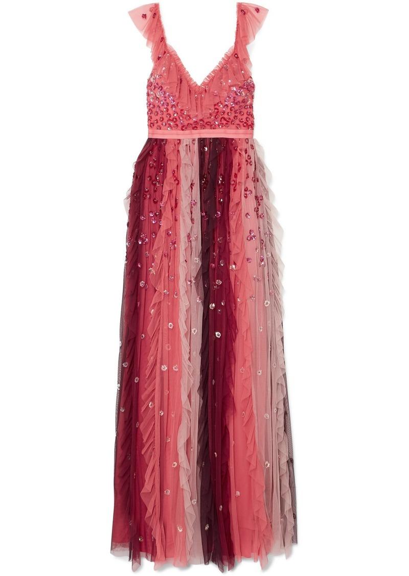 f8b60b788baa Needle & Thread Rainbow Embellished Tulle Midi Gown   Dresses