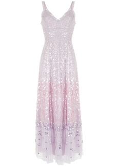 Needle & Thread sequin embellished ruffle trim gown