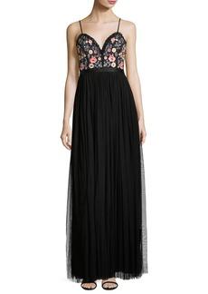 Needle & Thread Whisper Embellished Georgette Maxi Dress