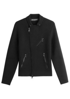 Neil Barrett Asymmetric Zipped Wool Jacket