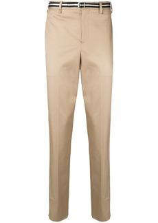 Neil Barrett belted straight leg trousers
