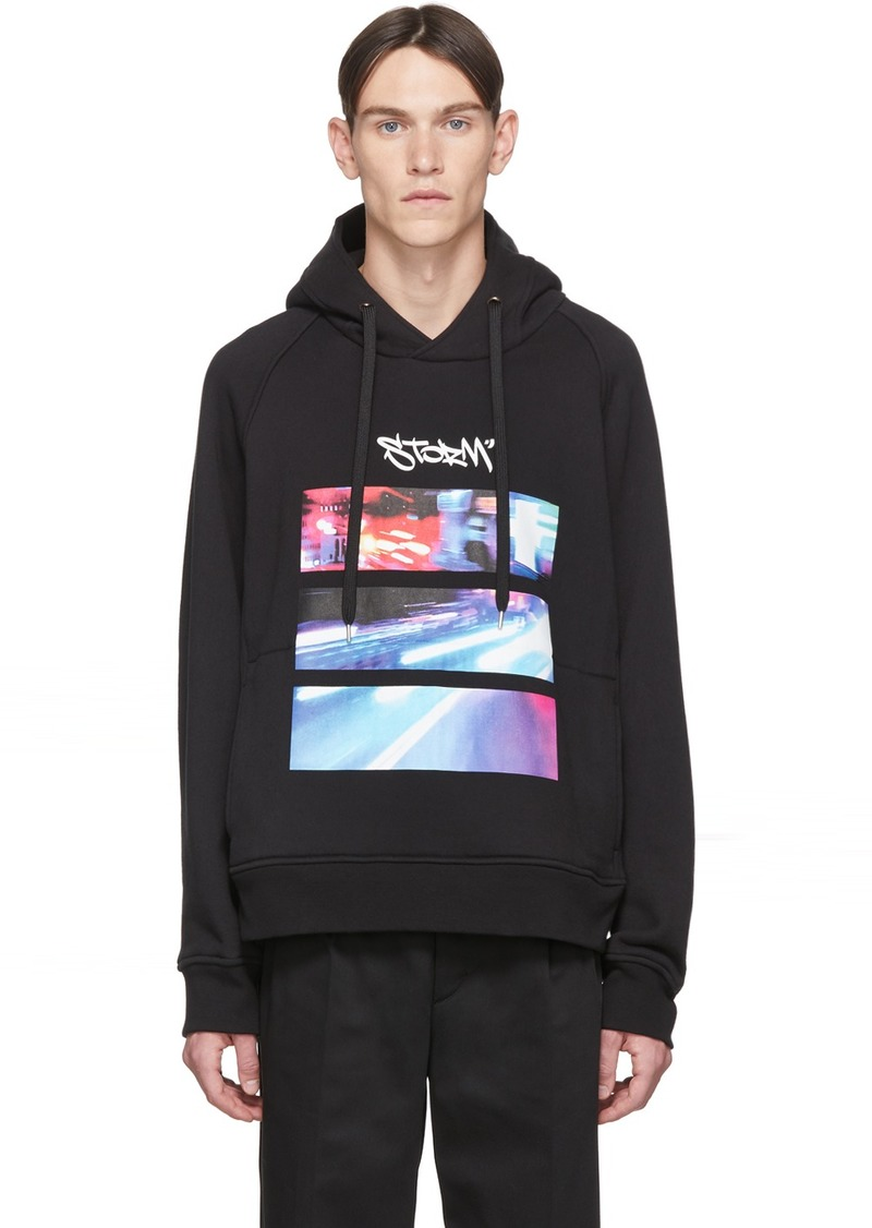 Neil Barrett Black City Lights Hoodie