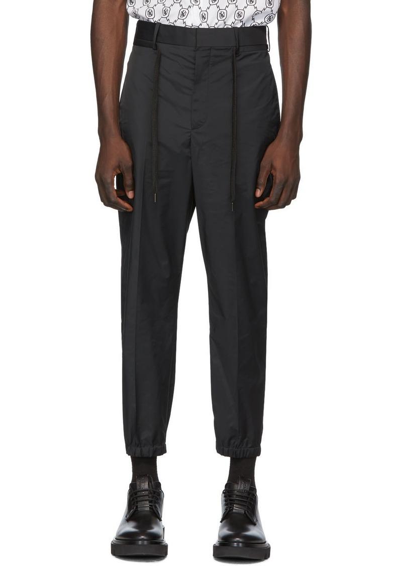 Neil Barrett Black Patch Trousers