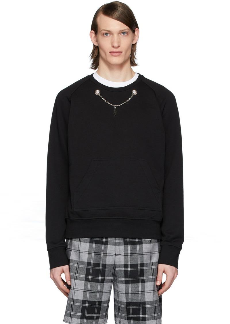Neil Barrett Black Thunderbolt Chain Sweatshirt