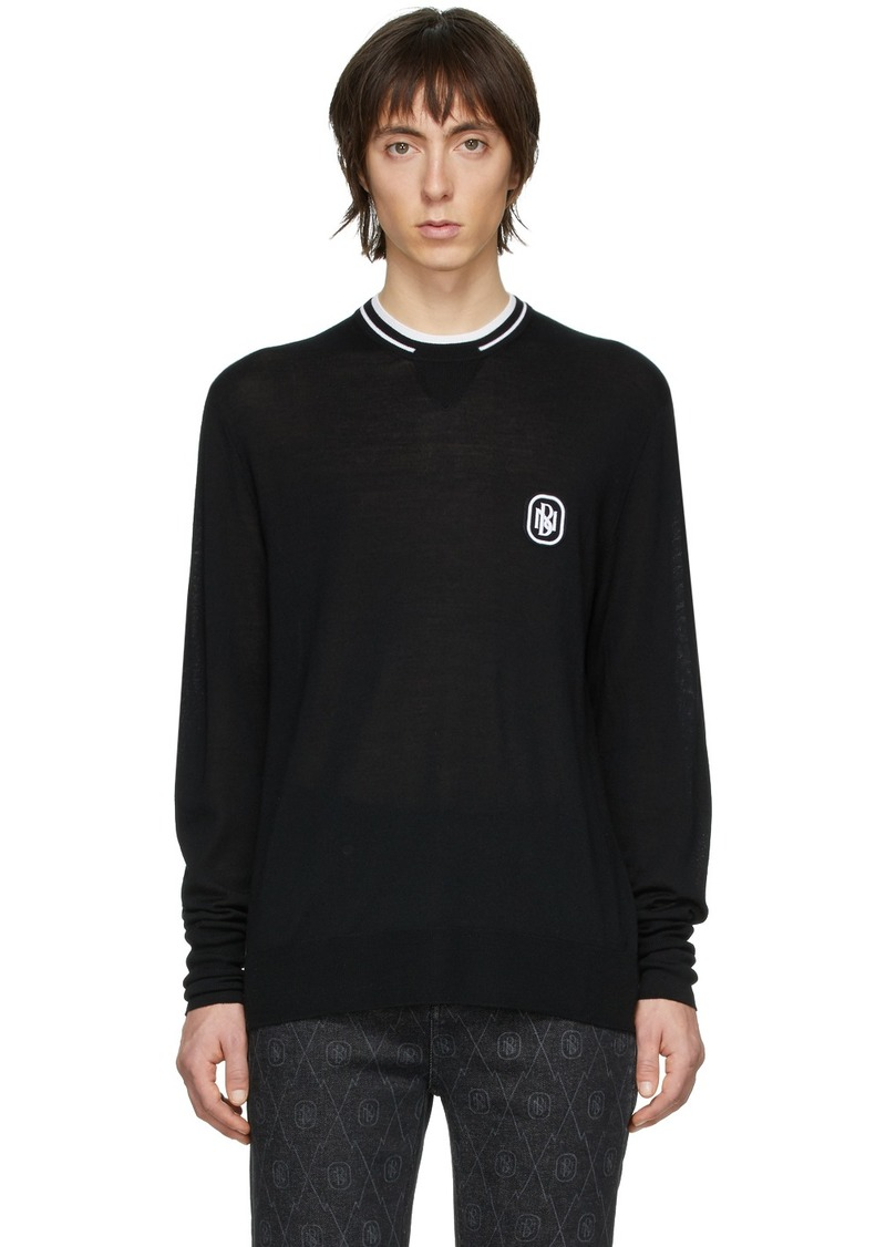 Neil Barrett Black Travel Logo Sweater