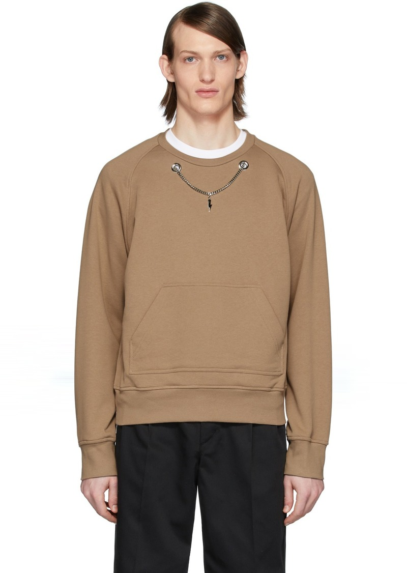 Neil Barrett Brown Chain Sweatshirt