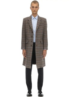 Neil Barrett Check Wool Blend Cloth Coat