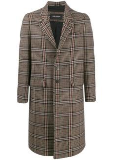 Neil Barrett checked overcoat