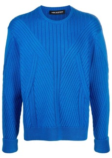 Neil Barrett chunky ribbed knit jumper
