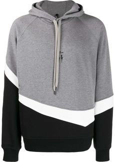 Neil Barrett colour block hoodie