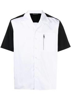 Neil Barrett colour-block short sleeve shirt