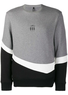 Neil Barrett colour block sweatshirt