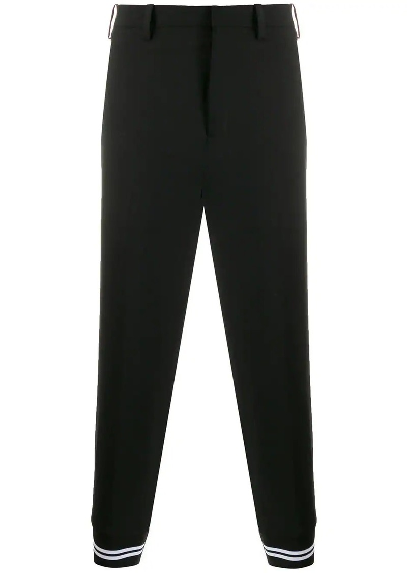 Neil Barrett contrast-cuff tailored trousers