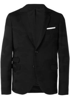 Neil Barrett contrast pocket square blazer