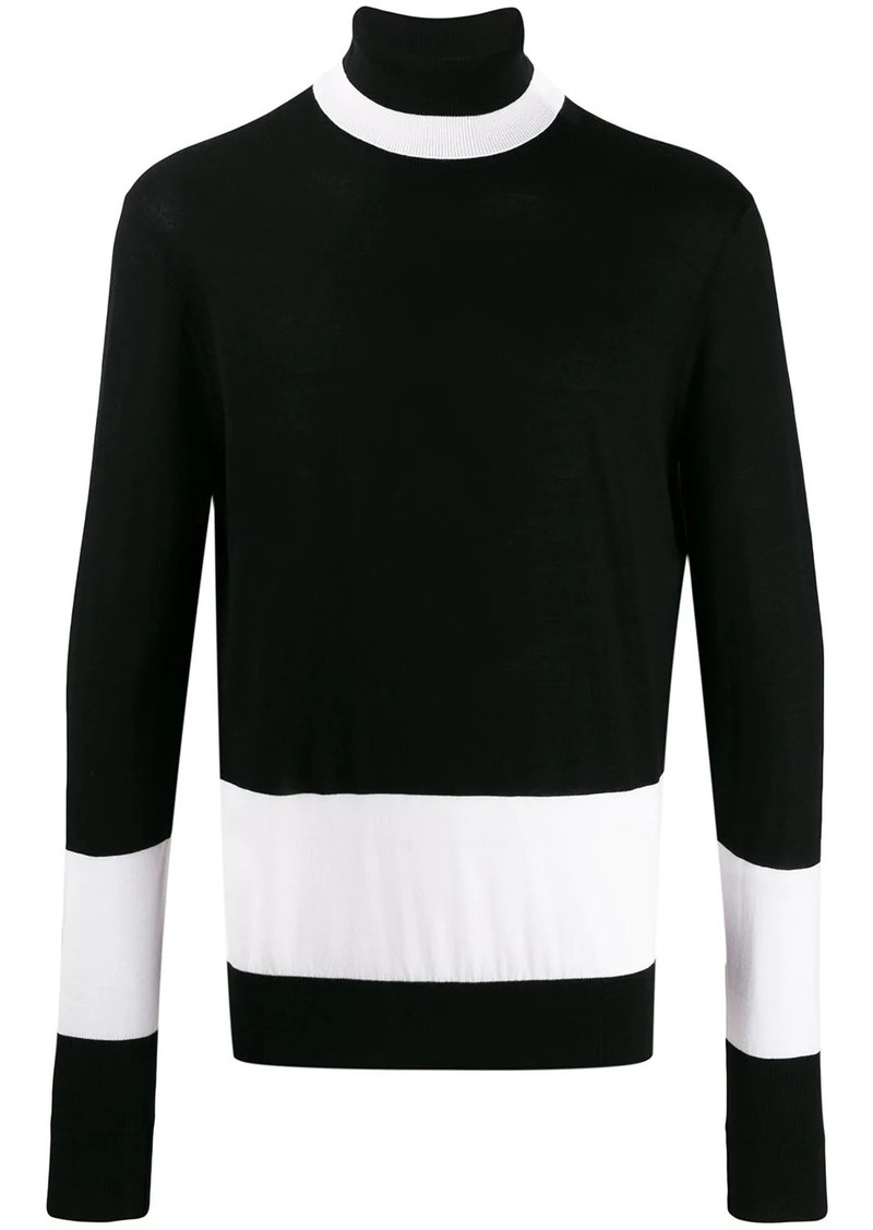 Neil Barrett contrast roll-neck sweater
