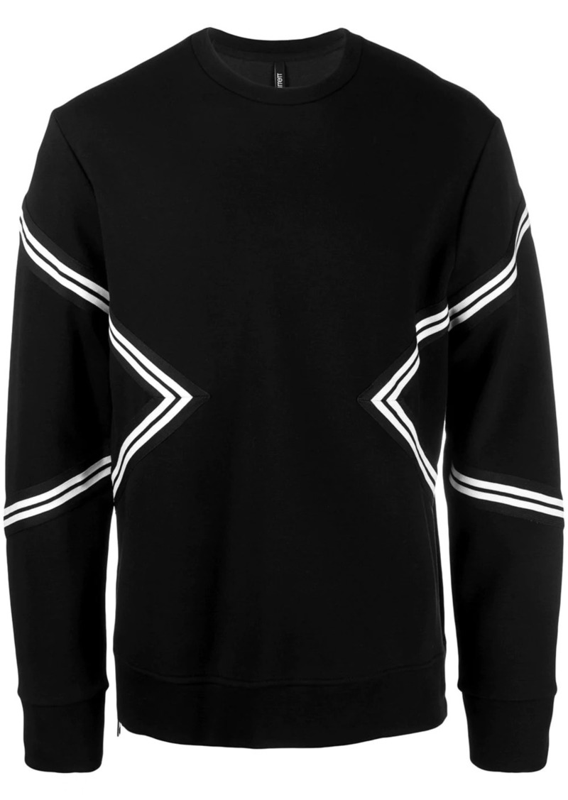 Neil Barrett contrast stripes sweatshirt
