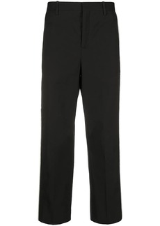 Neil Barrett contrasting side panel cropped trousers