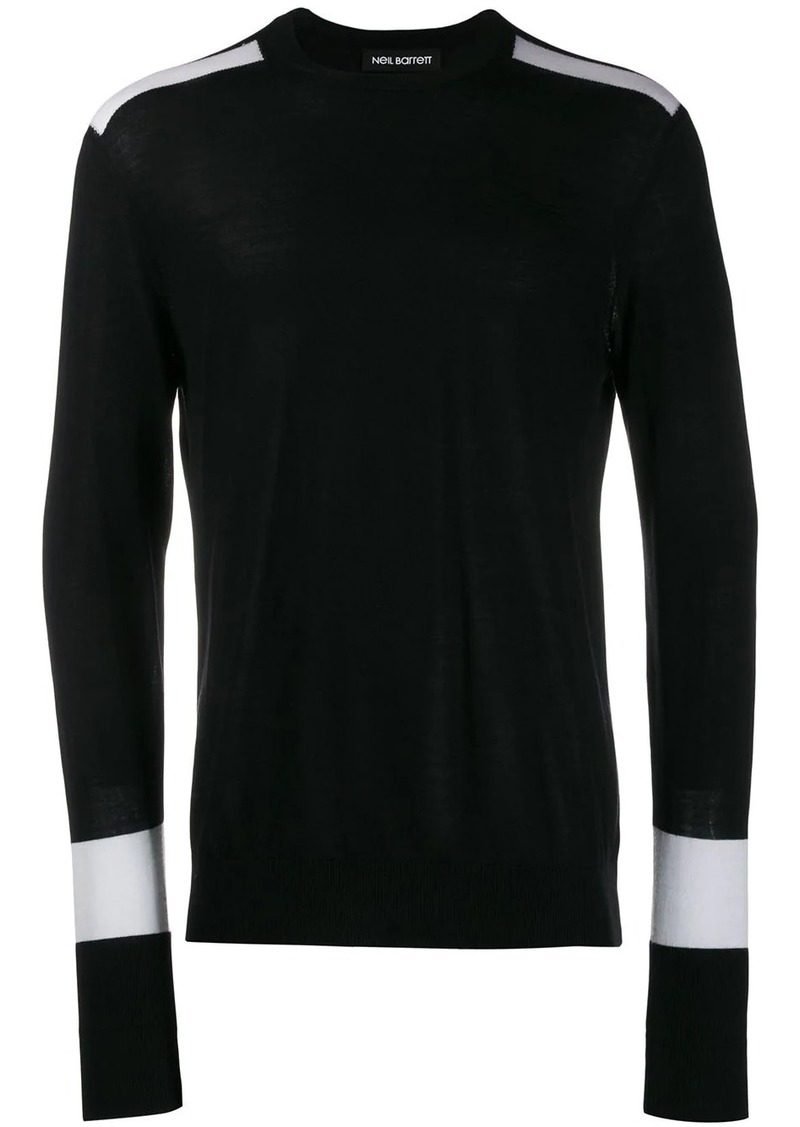Neil Barrett contrasting sleeves sweater