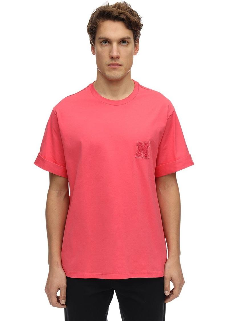 Neil Barrett Cotton Jersey T-shirt W/ Logo Patch