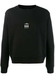 Neil Barrett crew neck logo sweater