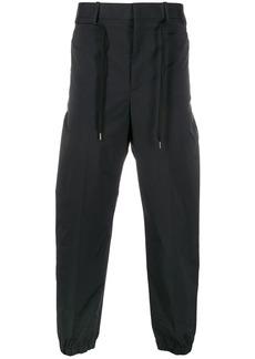 Neil Barrett cropped track trousers