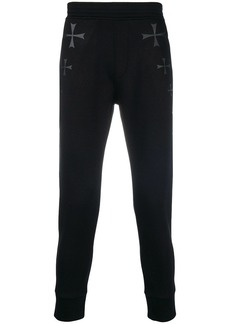 Neil Barrett cross print track pants