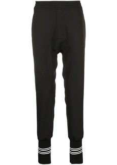 Neil Barrett double stripe ribbed track trousers