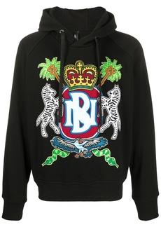 Neil Barrett embroidered logo hoodie
